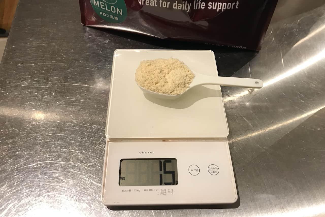 グロング プロテイン100ベーシック(メロン風味)のレビュー